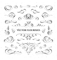 Collection of flourishes vector image vector image