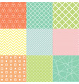 colorful abstract seamless pattern set vector image