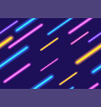 colorful neon lights abstract background vector image