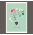 Colorful spring poster with magic plant vector image vector image