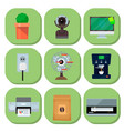 computer office equipment technic gadgets modern vector image