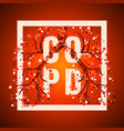 copd frame poster vector image vector image