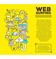 creative concept of web surfing with header vector image