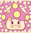 cute mushroom cartoon vector image