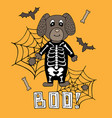 cute poster with a lettering for halloween vector image vector image