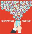 digital marketing pattern background vector image vector image