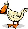 duck farm bird cartoon vector image vector image