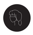 face bandage black concept icon face vector image