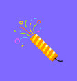 firecracker icon party birthday surprise vector image vector image