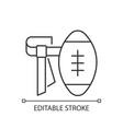 flag football linear icon vector image