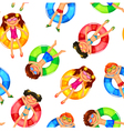 floating kids pattern vector image vector image