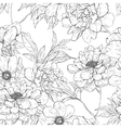 Floral hand drawn seamless pattern with flowers vector image vector image
