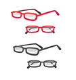 glasses in different view in cartoon style vector image