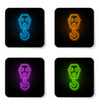 glowing neon industrial hook icon isolated on vector image
