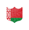 grunge shield shaped flag belarus stock on vector image vector image