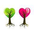 Heart Trees vector image