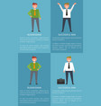 icons businessman successful vector image