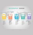 infographic design template with step vector image