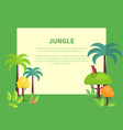 jungle banner with place for text green palms vector image
