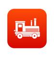 locomotive icon digital red vector image vector image