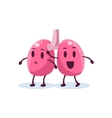 Lungs Primitive Style Cartoon Character vector image vector image