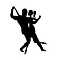 man and girl dance silhouette music dancing a vector image