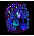 military horoscope sagittarius vector image vector image