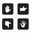 modern hand icons set vector image vector image