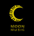 moon logo as piano keyboard icon simple style vector image vector image