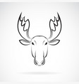 moose deer head design on white background wild vector image vector image