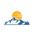 mountain landscape logo image vector image vector image