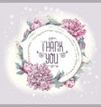nature greeting card with pink peonies vector image
