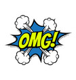 omg comic text bubble isolated color icon vector image vector image