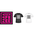 paraben free typography for t-shirt stamp tee vector image