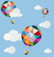 polygonal balloons in blue sky vector image vector image