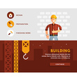 Profession Concept Builder and Building Flat vector image vector image