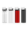 realistic lighters set vector image vector image