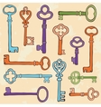 Retro style keys composition vector image vector image