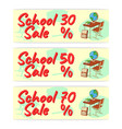sale school banner icon and logo isolated design vector image