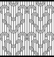 seamless geometric striped ornament vector image vector image