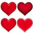Set of 4 valentine heart vector | Price: 1 Credit (USD $1)