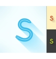 Set of letter S surfing label and logo made vector image