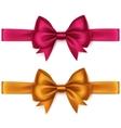 Set of Orange Bright Pink Bows and Ribbons vector image vector image