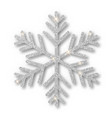 silver snowflake christmas decoration covered vector image