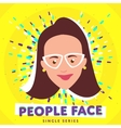 Smiling people face vector image