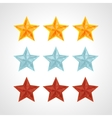 Star Rating Template vector image