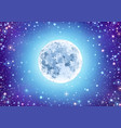 starry sky with moon vector image vector image