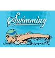 Summer kinds of sports Swimming vector image vector image