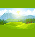 summer mountain landscape green valley vector image