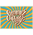 summer party vintage template vector image vector image